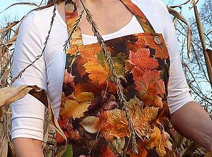 Iné oblečenie - Zásterka jesenné lístie - 8737258_