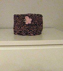 Dekorácie - Ružovo-hnedý košík - 8738662_
