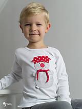 Detské oblečenie - tričko SNEHULIAK S HRNCOM kr/dl rukáv - veľ. od 86 do 128 - 8736703_