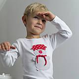tričko SNEHULIAK S HRNCOM kr/dl rukáv - veľ. od 86 do 128