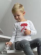 Detské oblečenie - tričko SNEHULIAK S HRNCOM kr/dl rukáv - veľ. od 86 do 128 - 8736722_