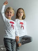 Detské oblečenie - tričko SNEHULIAK S HRNCOM kr/dl rukáv - veľ. od 86 do 128 - 8736725_
