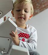 Detské oblečenie - tričko SNEHULIAK S HRNCOM kr/dl rukáv - veľ. od 86 do 128 - 8736729_