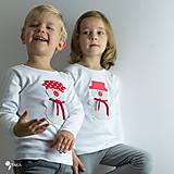 Detské oblečenie - tričko SNEHULIAK S HRNCOM kr/dl rukáv - veľ. od 86 do 128 - 8736730_