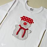 Detské oblečenie - tričko SNEHULIAK S HRNCOM kr/dl rukáv - veľ. od 86 do 128 - 8736747_