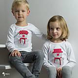 Detské oblečenie - tričko SNEHULIAK S KLOBÚKOM kr/dl rukáv - veľ. od 86 do 128 - 8736823_