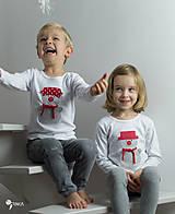 Detské oblečenie - tričko SNEHULIAK S KLOBÚKOM kr/dl rukáv - veľ. od 86 do 128 - 8736826_