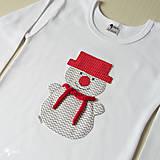 Detské oblečenie - tričko SNEHULIAK S KLOBÚKOM kr/dl rukáv - veľ. od 86 do 128 - 8736830_