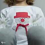 Detské oblečenie - tričko SNEHULIAK S KLOBÚKOM kr/dl rukáv - veľ. od 86 do 128 - 8736836_
