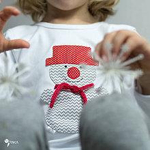 Detské oblečenie - tričko SNEHULIAK S KLOBÚKOM kr/dl rukáv - veľ. od 86 do 128 - 8736831_