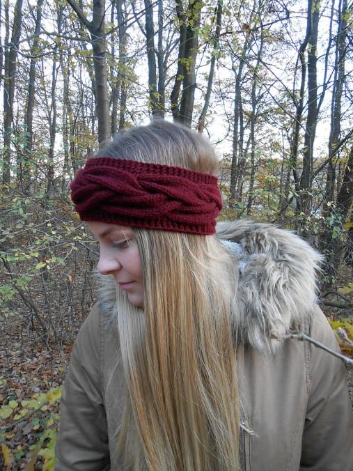Pletená čelenka   anas - SAShE.sk - Handmade Ozdoby do vlasov bd74eb7ec7
