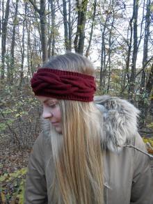 Ozdoby do vlasov - Pletená čelenka - 8736675_