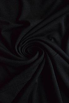 Textil - Micromodal elastický – černý - 8737313_