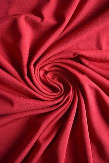 Textil - Micromodal elastický – červený - 8737332_