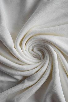 Textil - French terry Micromodal elastický – natur - 8737362_