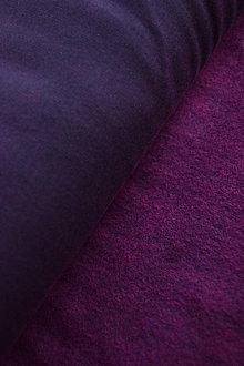 Textil - Teplákovina elastická počesaná – černo-růžový melír - 8737440_