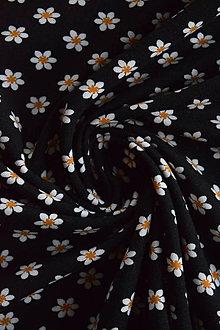 Textil - Bavlněný elastický jednolíc – kytičky - 8737496_