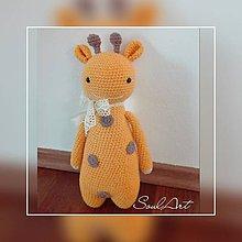 Hračky - háčkovaná žirafa - 8738665_