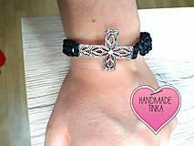 Náramky - Náramok s krížikom - 8738176_