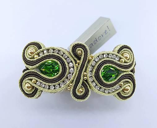 39a23d38e Luxury zlato - zelený náramok / Jadore - SAShE.sk - Handmade Náramky