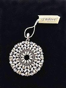 Iné šperky - Kruhový prívesok v starostriebornej farbe - 8735075_