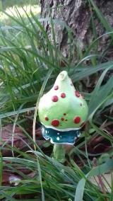 Dekorácie - Zelenka červenobodka - 8736308_