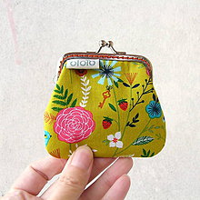 Peňaženky - Peňaženka mini Letná zelená lúka - 8735082_