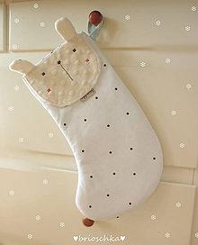 Textil - mikulášska so zajkom - 8735879_