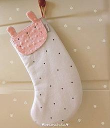 Textil - mikulášska so zajkom ružovým - 8735901_