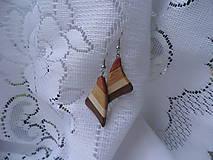 Náušnice - drevené náušnice - 8740447_