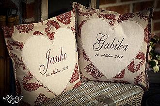 """Úžitkový textil - Vankúšiky """"Gabika a Janko"""" - 8742388_"""