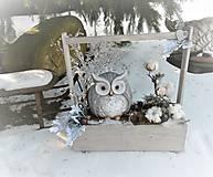 Dekorácie - Ľadové kráľovstvo pani sovy - 8741290_