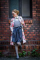 Sukne - Zavinovací sukně ANJA, tmavší šedá - 8743708_