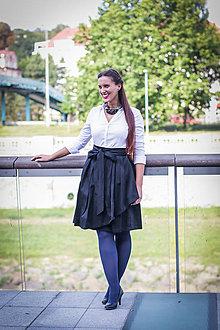 Sukne - Zavinovací sukně ANJA, černá, pas 74-78 cm - 8743809_