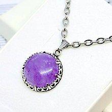 Náhrdelníky - Amethyst Filigree Necklace Silver 925 / Strieborný náhrdelník s ametystom #0704 - 8743680_
