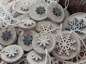 Dekorácie - Padajú nežné vločky, padajú - vianočná sada - 8740574_