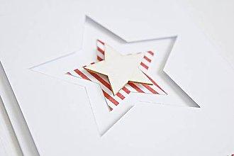Papiernictvo - Vianočný pozdrav - hviezda červená - 8743414_