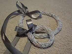Sady šperkov - šitá sada náhrdelník, náramok - 8741452_