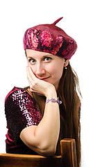 Čiapky - Francúzska baretka, ružová, plstená - 8740949_