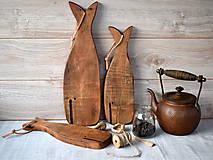 Pomôcky - Sada lopárov veľryba z hruškového dreva - 8741839_