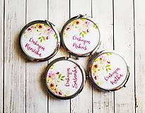 Darčeky pre svadobčanov - Svadobné zrkadielka pre družičky - 8741068_