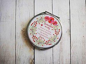 Darčeky pre svadobčanov - Svadobné zrkadielko pre kamaratku nevesty - 8741126_