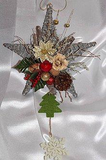 5f8d07e4c4 Dekorácie -    AKCIA    Vianočná hviezda na dvere - 8742871