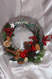 Dekorácie - ***VÝPREDAJ*** Vianočný venček na dvere