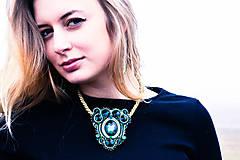 Sady šperkov - Golden emerald - sutašková souprava - 8743212_