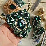 Sady šperkov - Golden emerald - sutašková souprava - 8743222_