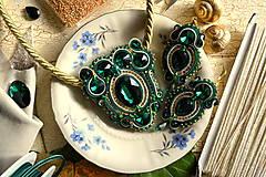 Sady šperkov - Golden emerald - sutašková souprava - 8743223_