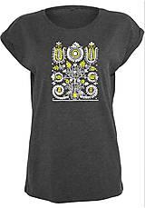Tričká - Tričko kvety - ľudový motív 2  - 8741561_