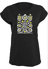 Tričká - Tričko kvety - ľudový motív 2  - 8741562_