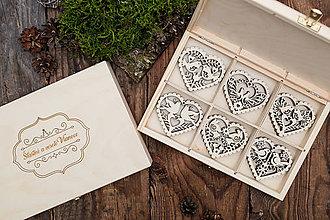 Dekorácie - Vianočné ozdoby z dreva - KOLEKCIA FOLK 2 - 8744082_